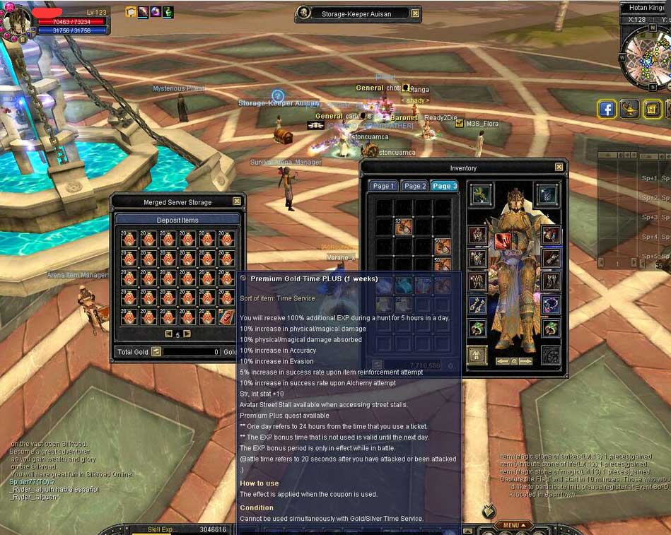 ZB9390 Lv123 Account : buy cheap Silkroad Online Flora